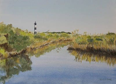 Beacon On The Marsh Art Print