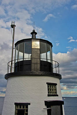 Penobscot Bay Photograph - Beacon, Owl's Head Lighthouse, Owl's by Michel Hersen