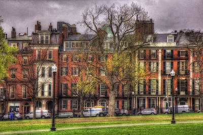 Beacon Street Brownstones - Boston Art Print by Joann Vitali