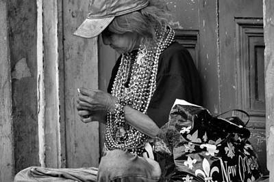 Photograph - Bead Lady by Nadalyn Larsen