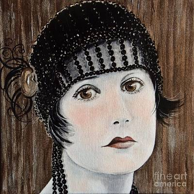 Liberation Painting - Beaded Flapper Hat by Barbara Chase