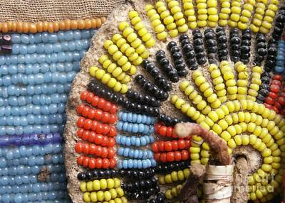 Seed Beads Photograph - Beaded Medallion by Valerie Reeves