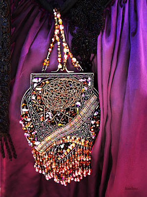 Steampunk Photograph - Beaded Victorian Purse by Susan Savad