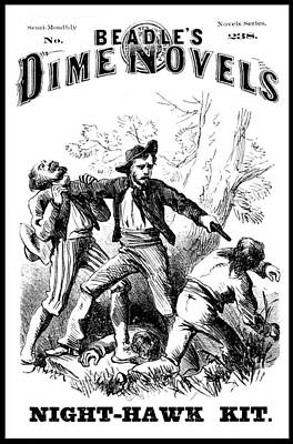 Beadles Dime Novels, Night-hawk Kit Art Print