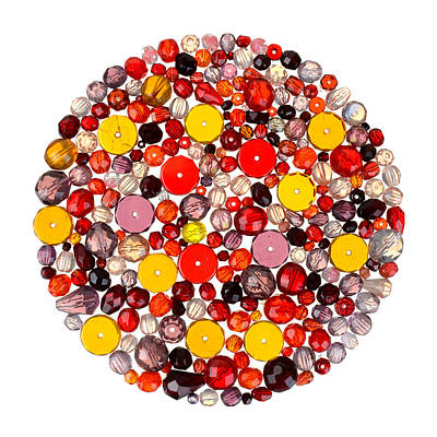 Round Beads Photograph - Beads by Jim Hughes