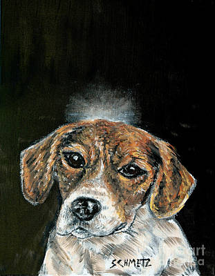 Painting - Beagle Angel by Jay  Schmetz