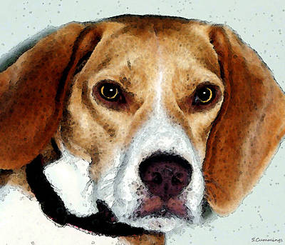 Beagle Art - Eagle Boy Art Print by Sharon Cummings