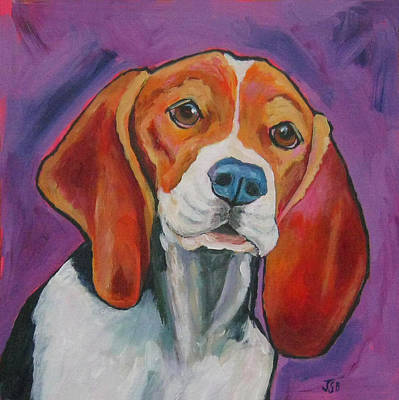 Painting - Beagle - Bowser by Janet Burt
