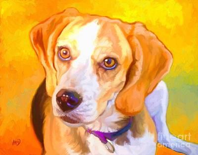 Beagle Dog Art Art Print by Iain McDonald