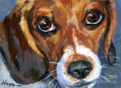 Beagle Art Print by Hope Lane