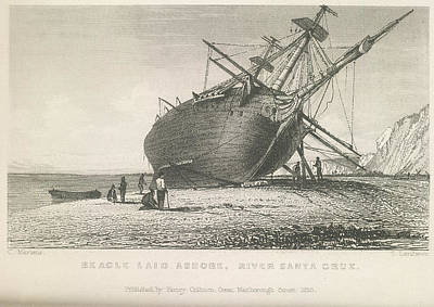 Hms Photograph - Beagle Laid Ashore by British Library