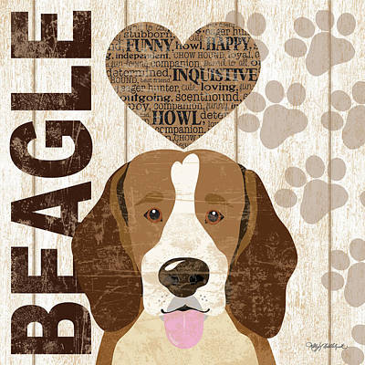 Beagle Painting - Beagle Love by Kathy Middlebrook