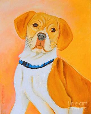 Painting - Beagle Pit Mix by Shelia Kempf