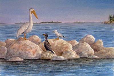 Wall Art - Painting - Beak Talk by Linda McCallum