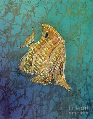 Underwater Painting - Beaked Butterflyfish by Sue Duda