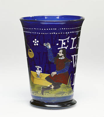 Czech Drawing - Beaker Unknown Czech Republic, Northern Bohemia Probably by Litz Collection