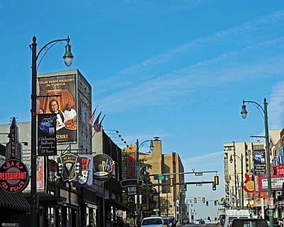 Photograph - Beale At Third St Memphis Tn by Lizi Beard-Ward