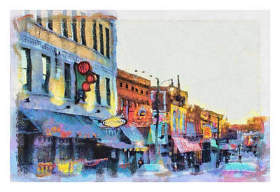 Painting - Beale Street Blues by Barry Jones