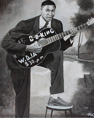 Painting - Beale Street Blues Boy by Patrick Kelly