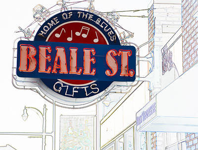 Beale Street Home Of The Blues Art Print