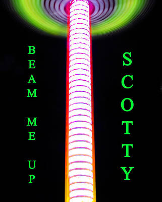 Painting - Beam Me Up Scotty by David Lee Thompson