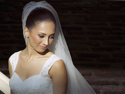Photograph - Beaming Bride by Ronald Hoehn