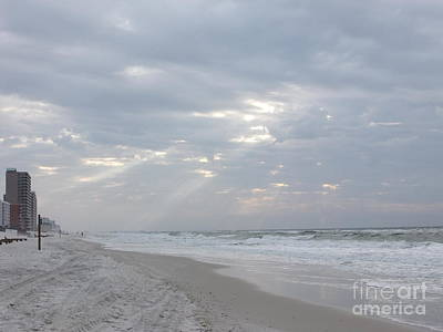Photograph - Beaming Sky At The Beach by Deborah DeLaBarre