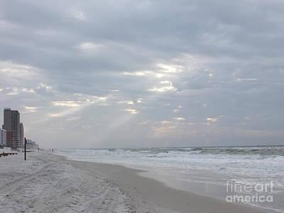 Photograph - Beaming Sky At The Beach by Deborah DeLaBarre