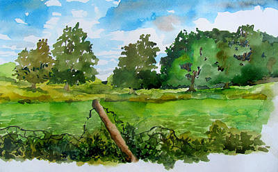 Green Beans Painting - Beanfield by James Huntley
