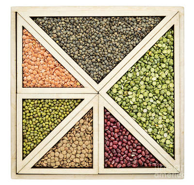 Beans And Lentils Abstract Art Print