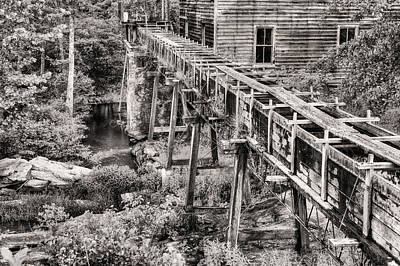Bean's Mill In Black And White Art Print by JC Findley