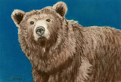 Animal Painting - Bear by Anastasiya Malakhova