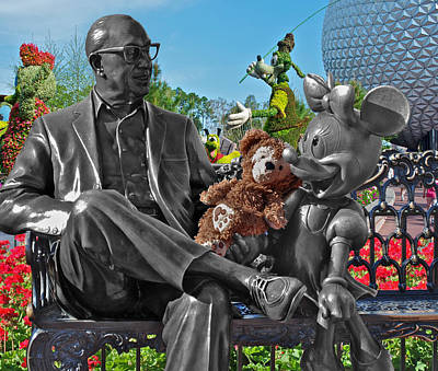 Bear And His Mentors Walt Disney World 03 Art Print by Thomas Woolworth
