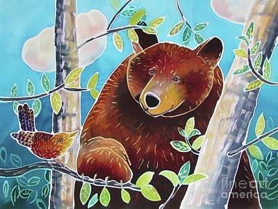 Painting - Bear And The Nuthatch by Harriet Peck Taylor