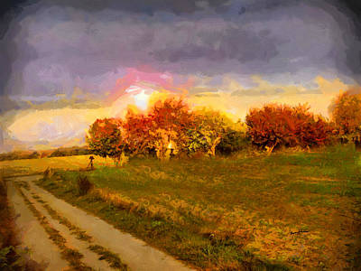 Northeast Painting - Bear Call Rd At Sunrise by Anthony Caruso