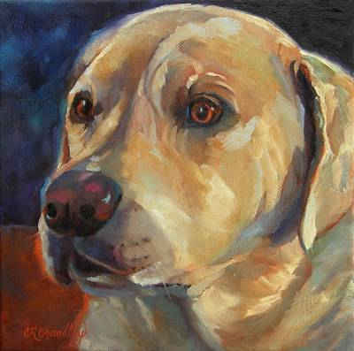 Impressionistic Dog Painting - Bear by Chris Brandley