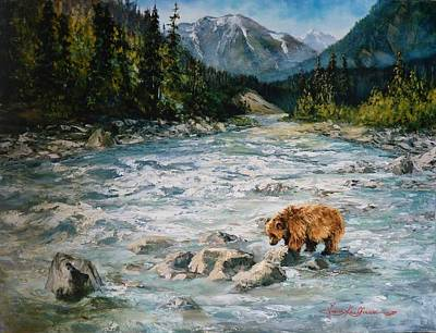 Bear Country  Art Print by Gracia  Molloy