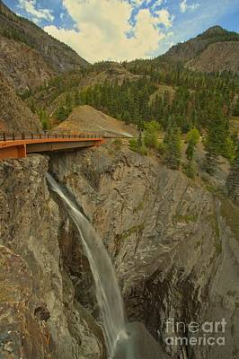 Photograph - Bear Creek Falls Bridge by Adam Jewell