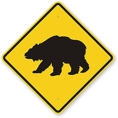 Digital Art - Bear Crossing Sign by Marvin Blaine