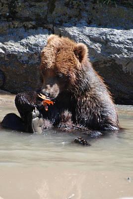 Bear Cub Art Print by DejaVu Designs