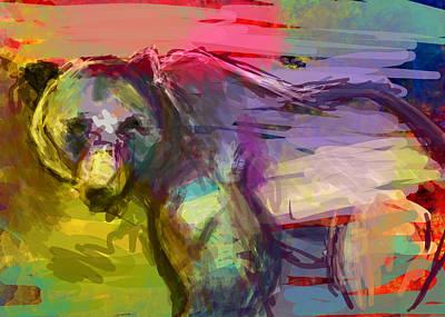 Snout Digital Art - Bear Form by James Thomas