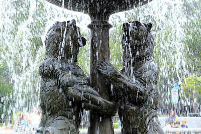 Bear Fountain Art Print