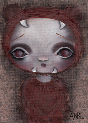 Painting - Bear Girl by Abril Andrade Griffith