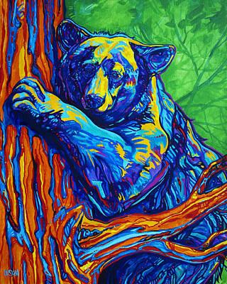 Bear Hug Art Print by Derrick Higgins
