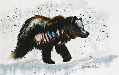 Painting - Bear Hunter by Anderson R Moore