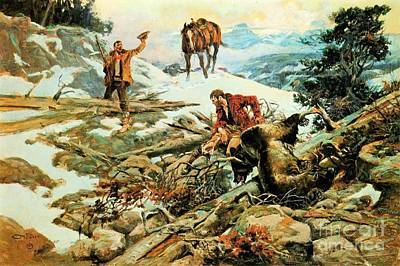 Painting - Bear Hunters by Roberto Prusso
