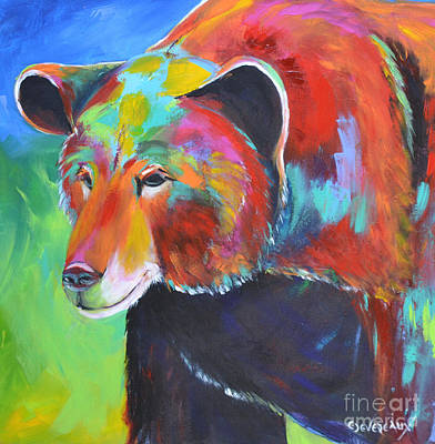 Wild Horse Painting - Bear  by Cher Devereaux