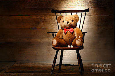 Photograph - Bear In A Chair by Olivier Le Queinec