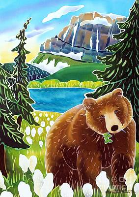 Glacier National Park Painting - Bear In The Beargrass by Harriet Peck Taylor