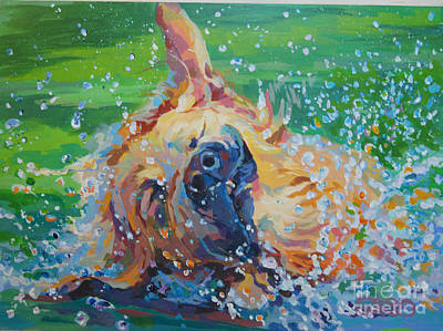 Golden Retriever Painting - Bear by Kimberly Santini